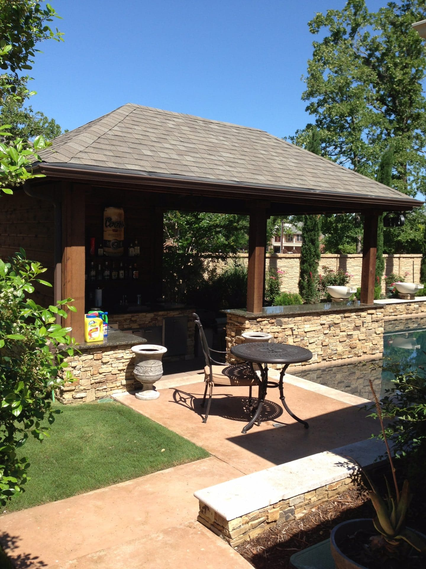 Outdoor Patio Kitchen With Shelter Frisco