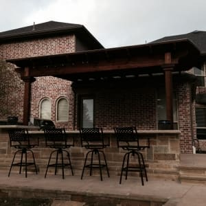 Patio Outdoor Kitchen With Dining