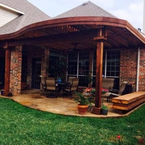Decorate Garden With Wodden Patio Covers Frisco